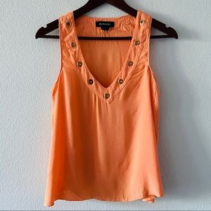 Marciano Bright Orange Sleeveless Blouse